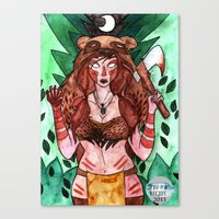 skyrim Canvas Prints featuring Skyrim Warrior by Jazmine Phillips