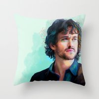 will graham Throw Pillows featuring Will Graham by The Wayward Daughter