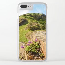 Saddle Mountain Oregon Coast Nature Northwest Forest Landscape Hiking Clear iPhone Case