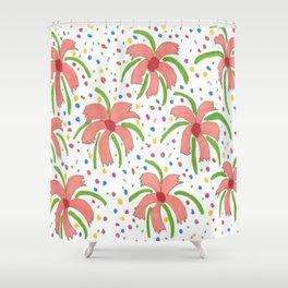 Tropical Fiesta Flowers Shower Curtain