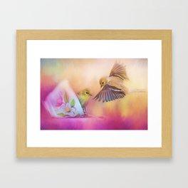 Raiding The Teacup - Songbird Art Framed Art Print