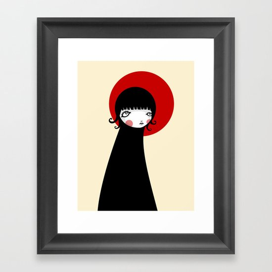 Redd Moon Framed Art Print