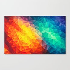Abstract Multi Color Cubizm Painting Canvas Print