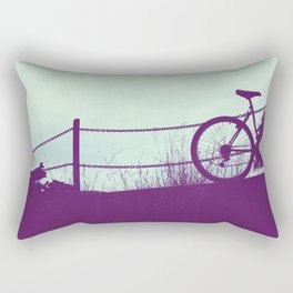fence and bike Rectangular Pillow