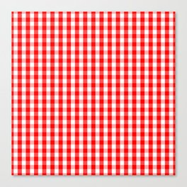 Large Australian Flag Red and White Gingham Check Canvas Print