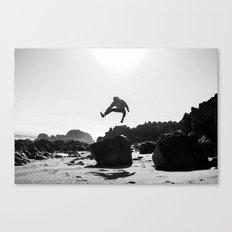 Beach Jump Canvas Print