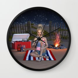 Happy Independence Day Wall Clock