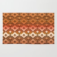 copper Area & Throw Rugs featuring Copper by Lyle Hatch