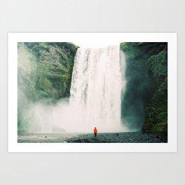 Iceland - Skógafoss (Leica M3 & Kodak film) Art Print
