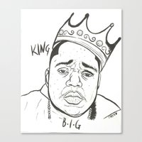biggie Canvas Prints featuring Biggie by Creen