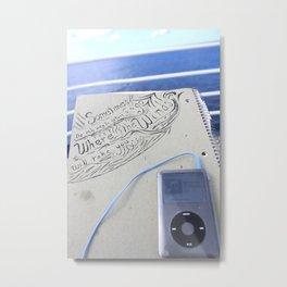 Beyond The Blue Metal Print