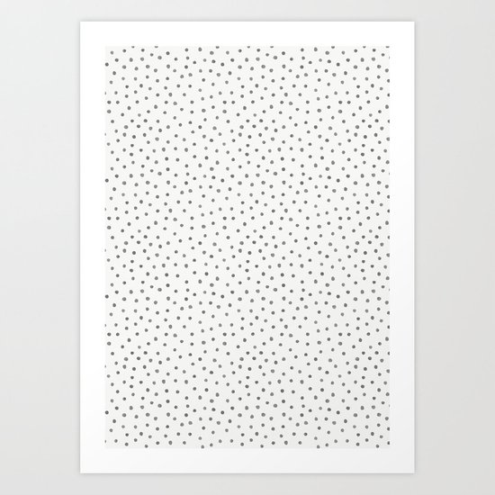 GREY WATERCOLOR DOTS PATTERN by kindofstyle