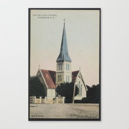 Anglican Church, Cambridge, New Zealand, 1909, Cambridge, by Muir & Moodie studio Canvas Print