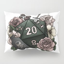 Rogue Class D20 - Tabletop Gaming Dice Pillow Sham