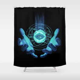 Virtual Reality Check Shower Curtain