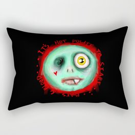 IT'S NOT POLITE TO STARE Rectangular Pillow