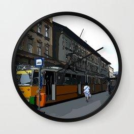 Budapest street Wall Clock