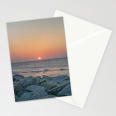Sunrise at the Battery Seawall Fort Fisher NC Stationery Cards