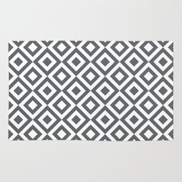Geometric Pattern #170 (gray squares) Rug
