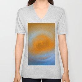 Soft Sunrise - Energy Art By Sharon Cummings Unisex V-Neck