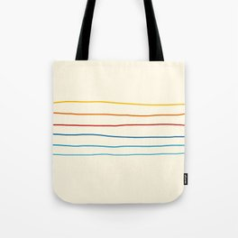 Bright Classic Abstract Minimal 70s Rainbow Retro Summer Style Stripes #1 Tote Bag