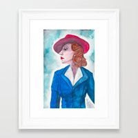 peggy carter Framed Art Prints featuring Peggy Carter by LK'sArts