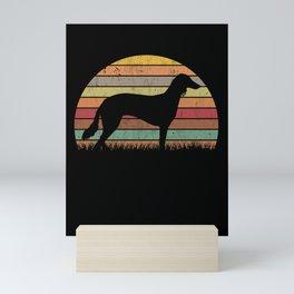 Saluki Retro Persian Greyhound Vintage Mini Art Print