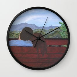 Love in the Mountains Wall Clock