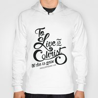 bible verse Hoodies featuring Typographic Verse by Ruthie Designs