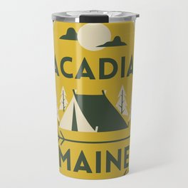 Acadia National Park Maine Camping Tent Vintage Travel Travel Mug