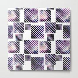 Galaxy Geometric Pattern 05 Metal Print