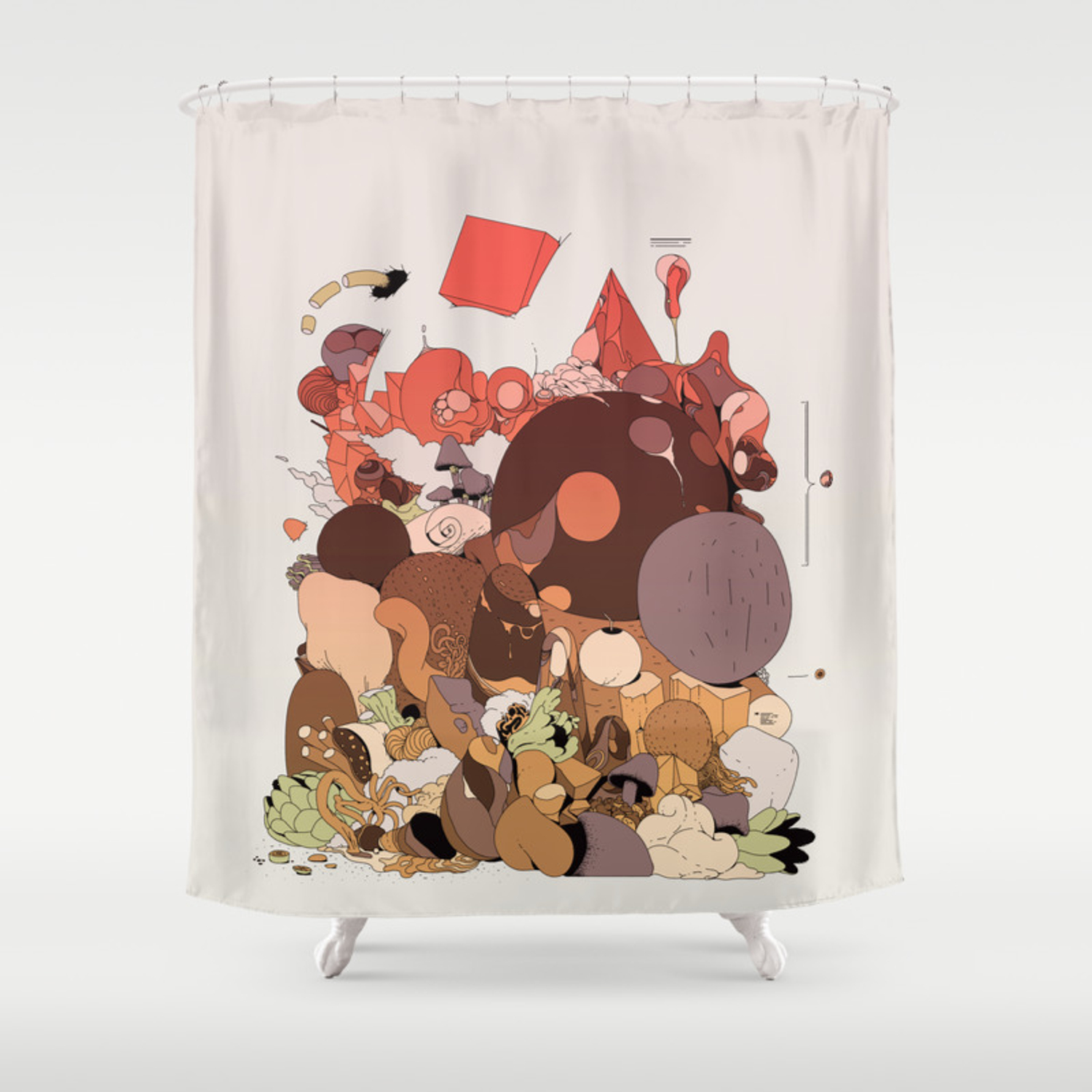 Organic Infographics Shower Curtain