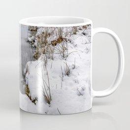 Snowfall at Ogwen Lake Snowdonia Coffee Mug