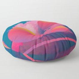 Vaporwave sky 1 / Rise / 80s / 90s / aesthetic Floor Pillow