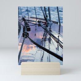 Rain on deck -Sailing photography- nautical photography Mini Art Print
