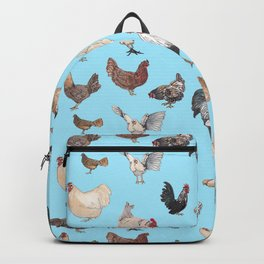 Chicken Happy (blue) Backpack