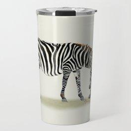 Zebras Watercolor Travel Mug