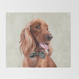 Mr. English Cocker Spaniel Throw Blanket