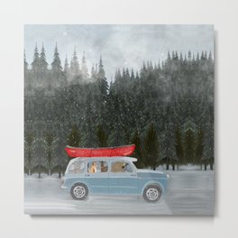 winter holiday Metal Print