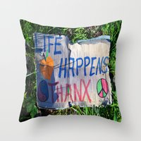 philosophy Throw Pillows featuring Discarded Philosophy  by Gary Lee Hutchings