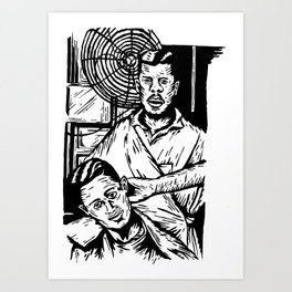 Pacific Gold Barbershop Dos  Art Print