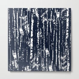 Texture night forest  Metal Print
