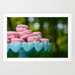 Birthday Macarons Art Print