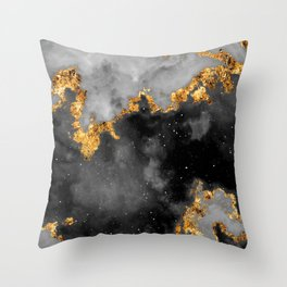 100 Starry Nebulas in Space Black and White 061 (Portrait) Throw Pillow