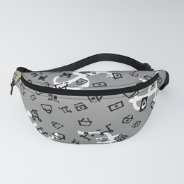 pattern with currency Fanny Pack