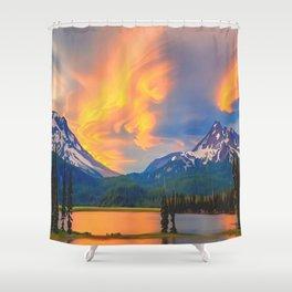 Sun Kissed Mountain Shower Curtain