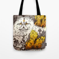 witchcraft Tote Bags featuring Witchcraft by Angela Rizza