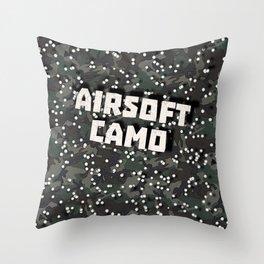 Airsoft Camo Throw Pillow
