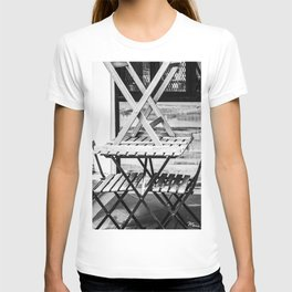 empty tables on empty chairs T-shirt