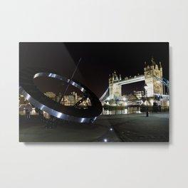 Tower Bridge London at Night Metal Print